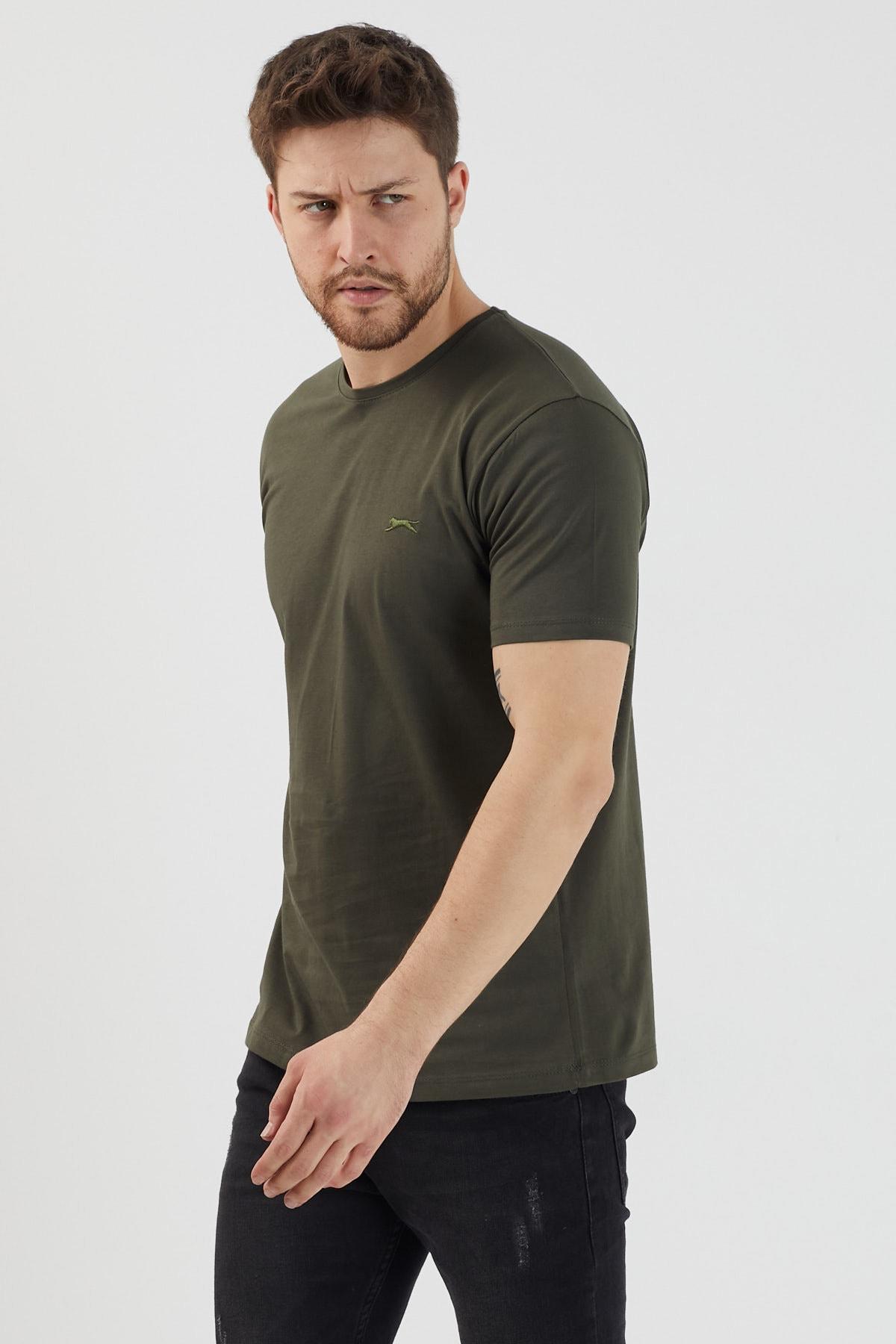 Slazenger SANDER Erkek T-Shirt Haki ST11TE083 2
