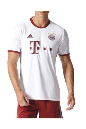 adidas Erkek Futbol Forması Beyaz Fcb Ucl Jsy AZ4663 0