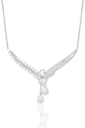 Söğütlü Silver Gümüş Rodyumlu Pırlanta Modeli Beyaz Altın Görünümlü Kolye Küpe Ve Yüzük Seti 1
