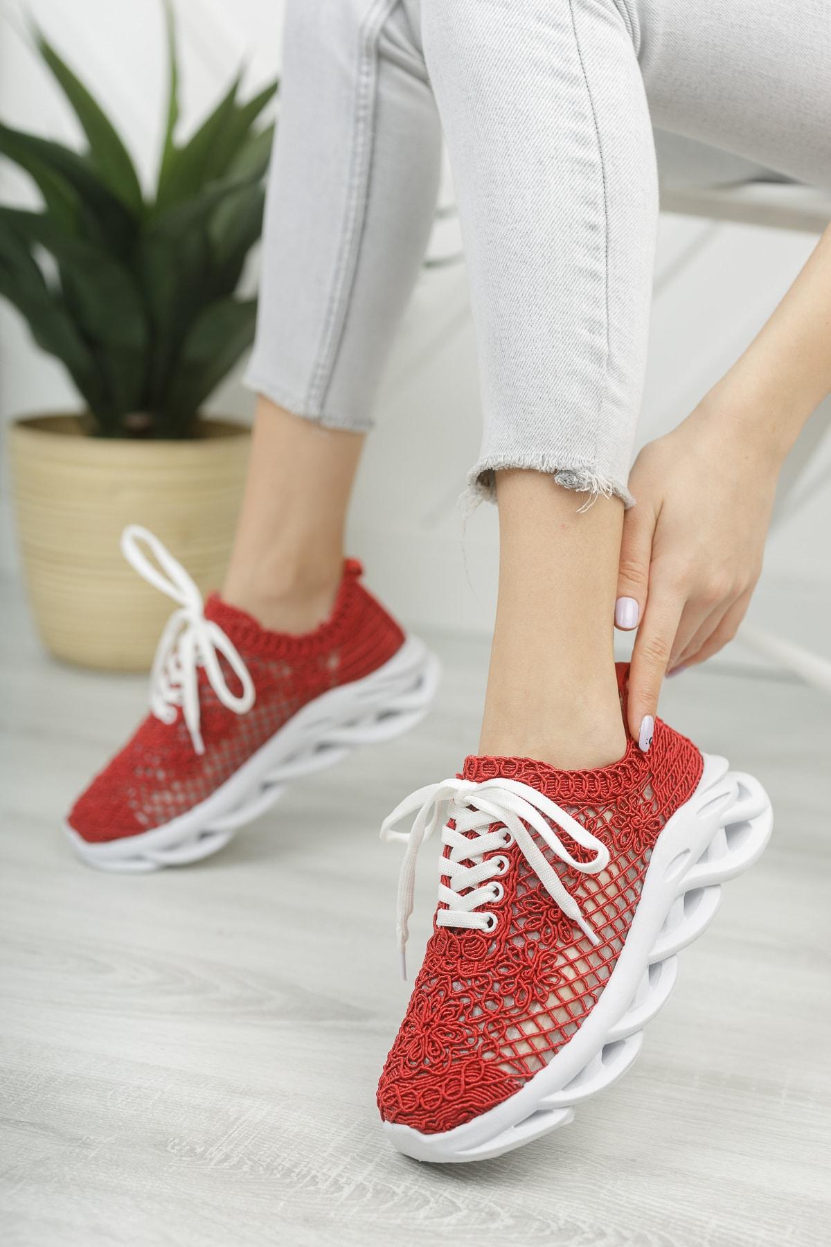 Kadın Dantelli Sneaker  Md1067-101-0001