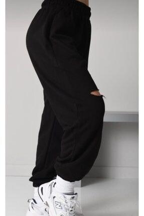 ronay giyim Oversize Kadın Siyah Eşofman Takımı 2