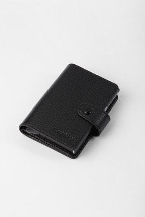 Cengiz Pakel Gerçek Deri Mekanizmalı Siyah Kartlık-cüzdan 3