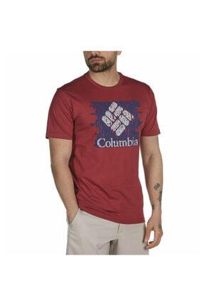 Columbia Erkek Bordo Statement Kısa Kollu Tişört Cs0116-678 0
