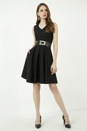 Vis a Vis Kadın Siyah Kolsuz Kloş Elbise 1
