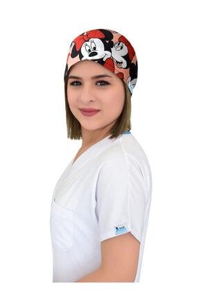 Nur Ortopedi Minnie Mouse Desenli Doktor Hemşire Aşçı Hastane Bonesi 1