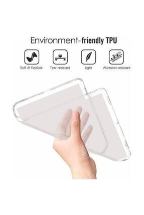 """Zore Samsung Galaxy Tab A7 Uyumlu Sm-t500 10.4"""" Lüks Şeffaf Silikon Kılıf 1"""