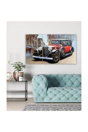 Pi Dekorasyon Klasik Araba 3 Parça Mdf Tablo 2 1