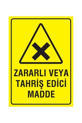 Printhome Dikkat Zararlı Veya Tahriş Edici Madde 50x70 Cm. Folyo / Etiket 0