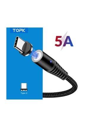 TOPK Type-c Usb Manyetik Mıknatıslı 5a Hızlı Şarj Ve Data Kablosu 4