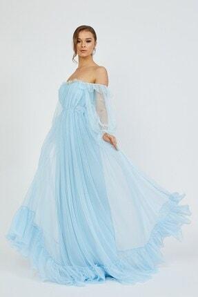 Shine İstanbul Hayal Tül Mavi Elbise 1