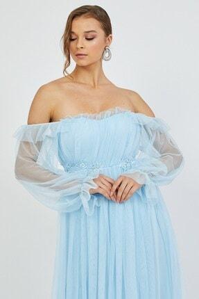 Shine İstanbul Hayal Tül Mavi Elbise 2
