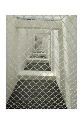 Kare Safety 1*4,50 Metre Balkon Filesi Merdiven Filesi Güvenlik Filsei Yüksek Mukavemetli Ce/iso/ohsas Belgeli 0
