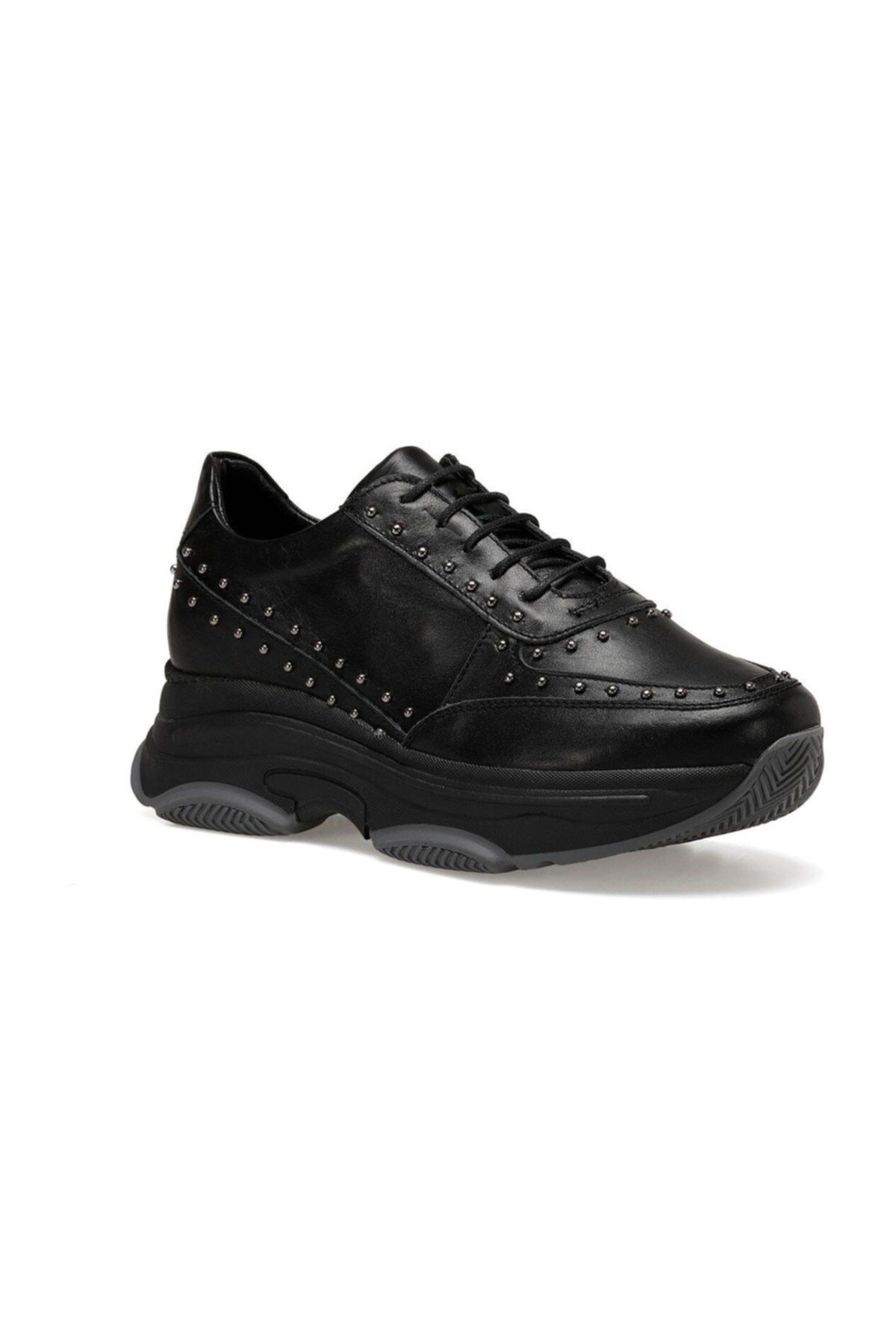 Nine West Hakiki Deri Siyah Kadın Sneaker