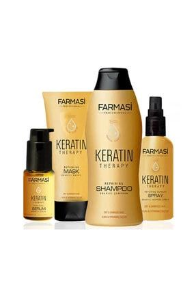 Farmasi Şampuan + Maske + Sprey + Serum Onarıcı Saç Bakım Seti   4'lü 0