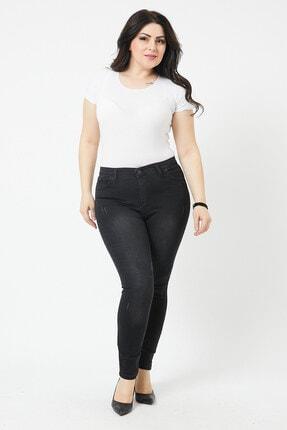 VAV Kadın Büyük Beden Dar Paça Kot Pantolon 0