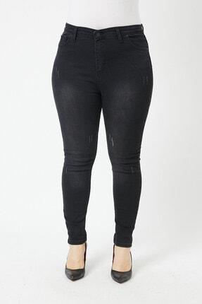VAV Kadın Büyük Beden Dar Paça Kot Pantolon 1
