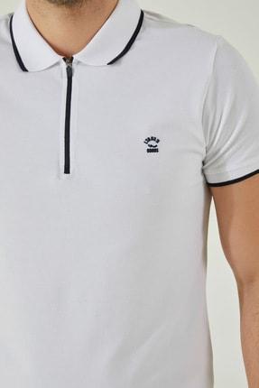 Ltb Erkek  Beyaz Polo Yaka T-Shirt 0122084075609440000 1