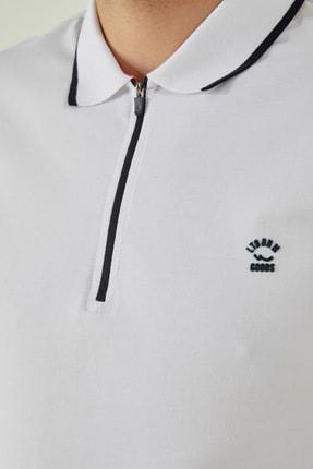 Ltb Erkek  Beyaz Polo Yaka T-Shirt 0122084075609440000 4