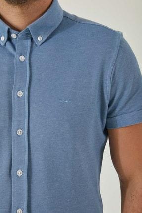 Ltb Erkek  Mavi  Kısa Kol Klasik  Gömlek 012208423760890000 1