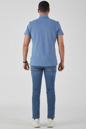 Ltb Erkek  Mavi  Kısa Kol Klasik  Gömlek 012208423760890000 3
