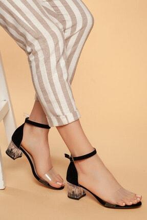 Daxtors Günlük Kadın Şefaf Topuklu Ayakkabı D045 0