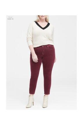 Banana Republic Kadın Bordo Kadife Skinny Pantolon 366597 0
