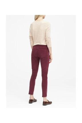 Banana Republic Kadın Bordo Kadife Skinny Pantolon 366597 2