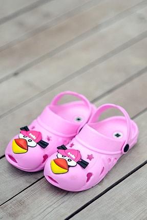 Pembe Potin Çocuk Pembe Sandalet 0