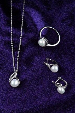 İn Dubai Silver Kadın Valide Sultan İnci Gümüş Set DBSK5015 1