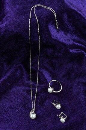 İn Dubai Silver Kadın Valide Sultan İnci Gümüş Set DBSK5015 3