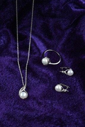 İn Dubai Silver Kadın Valide Sultan İnci Gümüş Set DBSK5015 4