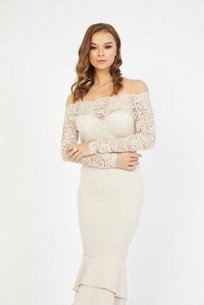 Shine İstanbul Dantel Detay Etek Volanlı Elbise 2