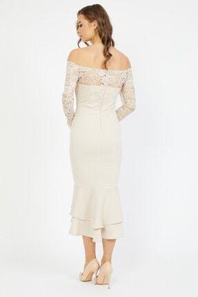Shine İstanbul Dantel Detay Etek Volanlı Elbise 3