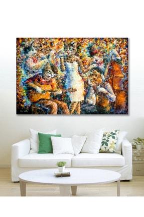 Hediyeler Kapında 90x130 Orkestra Sanatsal Duvar Kanvas Tablo 0