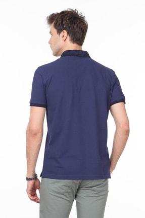 Ramsey Açık Lacivert Düz Örme T - Shirt RP10113808 3