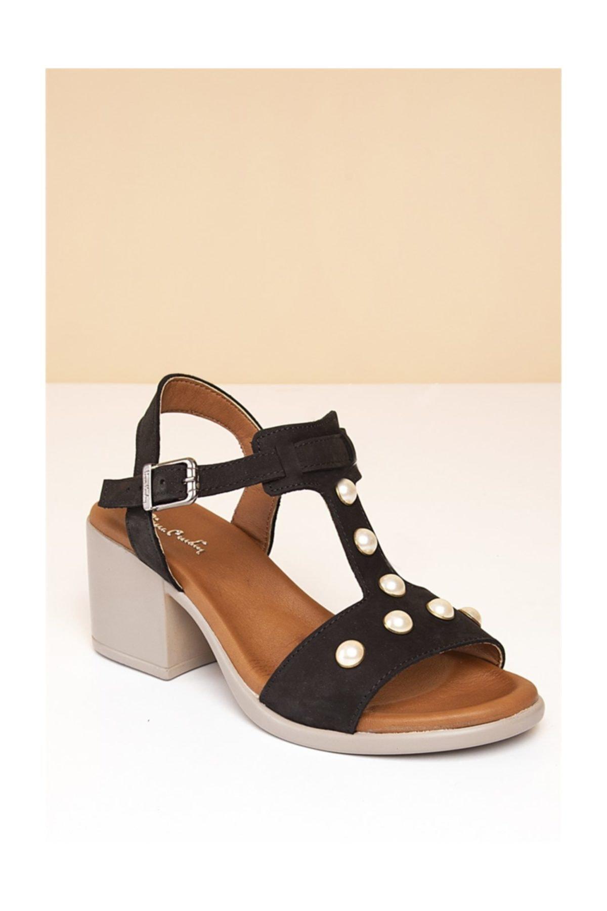Pc-2759 Siyah Kadın Sandalet