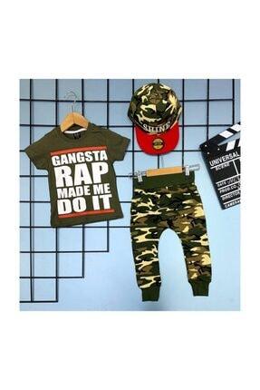 Yelkovan Kids Gangsta Rap Şapkalı Çocuk Takım 0