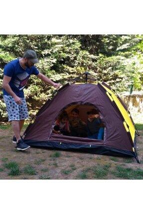 Papakudi 20 Saniyede Kurulum Otomatik Kamp Çadırı Tatil Plaj Deprem 3 Kişilik 0