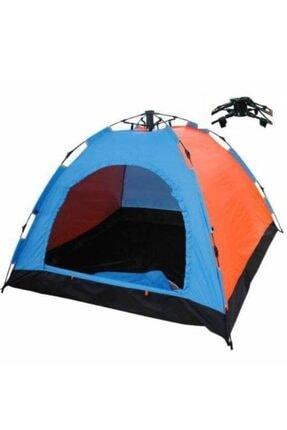 Papakudi 20 Saniyede Kurulum Otomatik Kamp Çadırı Tatil Plaj Deprem 3 Kişilik 4