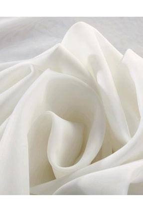 Evdepo Home Hazır 1/2 Seyrek Pileli Vual Tül Perde - Beyaz 350 X 250 3