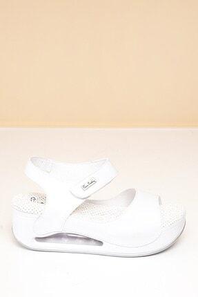 Pierre Cardin PC-1406 Beyaz Kadın Sandalet 2