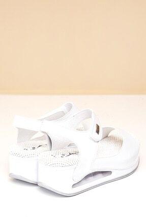 Pierre Cardin PC-1406 Beyaz Kadın Sandalet 3