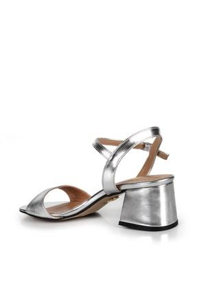 Gökhan Talay Gümüş Rengi Kadın Klasik Topuklu Ayakkabı 4
