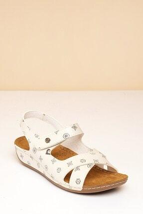 Pierre Cardin Pc-6172 Bej-kahve Kadın Sandalet 1