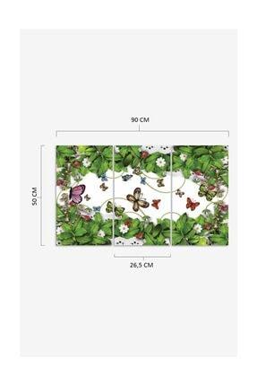 Pi Dekorasyon Kelebekler 3 Parça Mdf Tablo 2 1