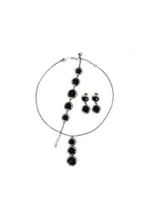 GETSS Kadın Siyah Modern Tasarım Çelik Set Ncs010 0
