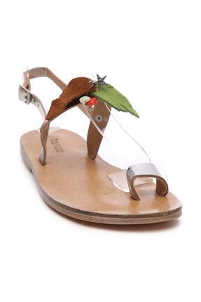 Kemal Tanca Gri Kadın Sandalet Sandalet 607 KB35 BN SNDLT 1