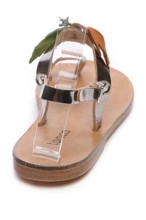 Kemal Tanca Gri Kadın Sandalet Sandalet 607 KB35 BN SNDLT 2