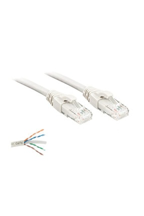 İntec Cat6 Kablo 20 Metre Bakır Telli Data/internet/modem/ethernet Kablosu 0