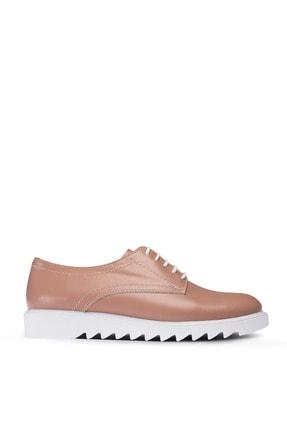 Hakiki Deri Vizon Rengi Günlük Kadın Ayakkabı 01430ZVZNP01